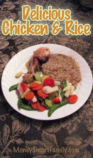 Delicious Baked Chicken and Rice Recipe. One Pan in the Oven, Awesome Dinner! #BakedChickenNRice #ChickenNRiceInOven