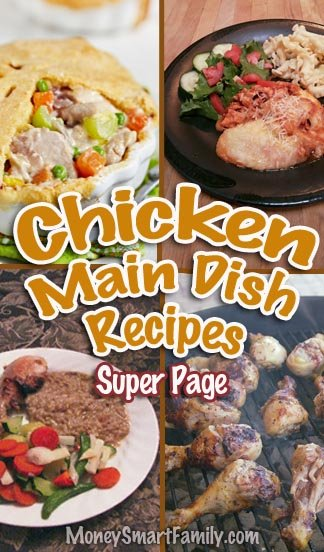 A Recipe Roundup page full of delicious chicken main dish recipes.