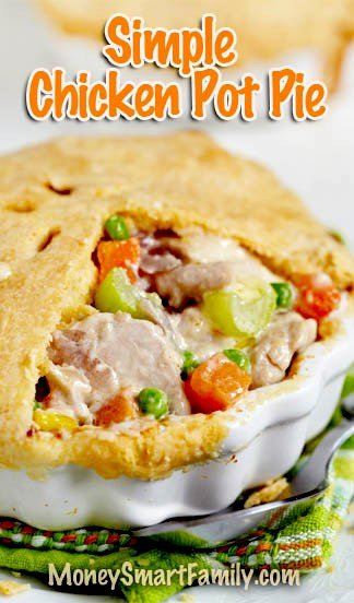A Simple Chicken Pot Pie Recipe using Ingredients you have in the house. #ChickenPotPie #EasyChickenPotPie #SimpleChickenPotPie
