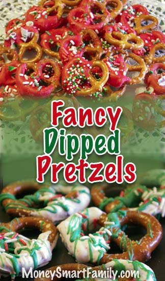 Fancy dipped pretzels - large and small.