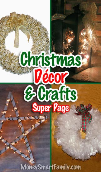 Great Christmas decor and craft ideas for your home.