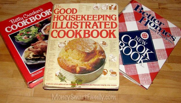 Best Cookbooks for Home Cooking - Better Crocker, Good Housekeeping and Better Homes and Gardens Cookbooks.