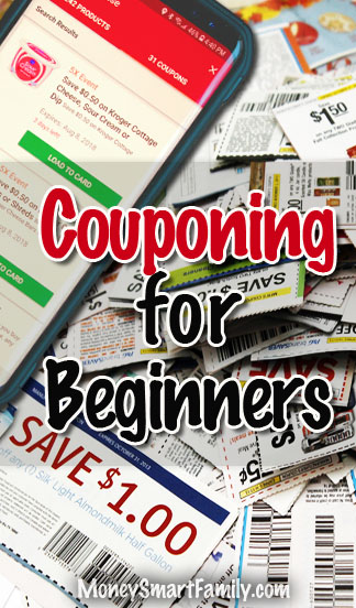 Couponing for Beginners with paper or digital coupons.