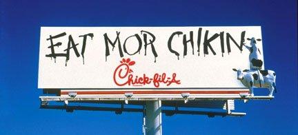 Cow appreciation day billboard.