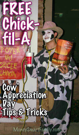 Cow Appreciation Day or Dress Like a Cow Day at Chick-fil-a with Abbey from Money Smart Family!.