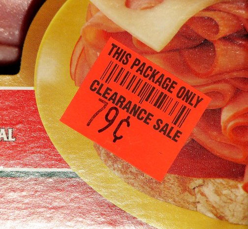 Discounted Lunchmeat sticker