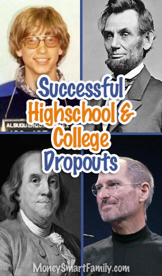 College & Highschool Dropouts that proved to be very successful men & women!