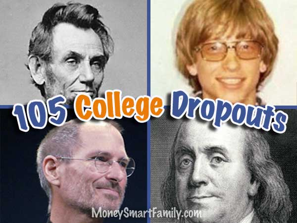105 successful dropouts from high school and college