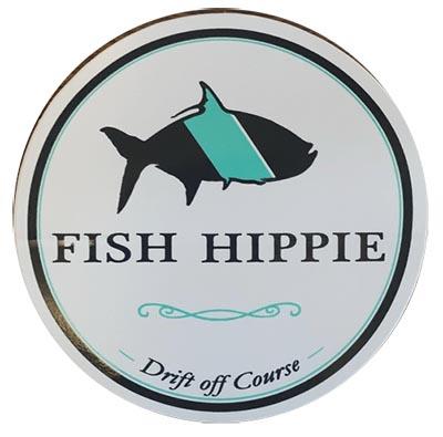 free Fish Hippie round sticker