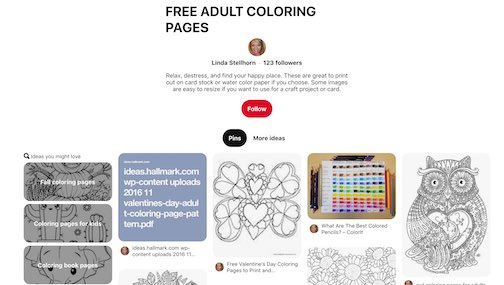 Pinterest Free Coloring Pages for Adults