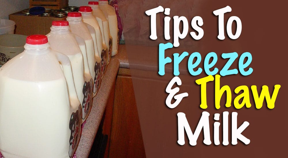 Freezing Milk Thawing Milk How Long Can Frozen Milk Be Stored