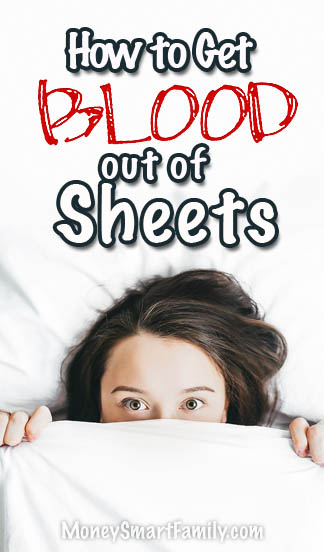 How to Get blood out of Sheets.