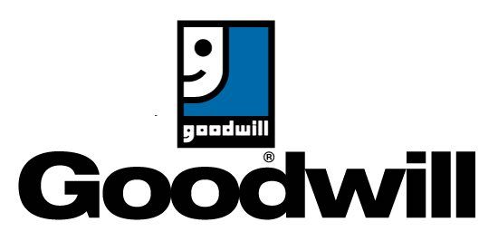 Goodwill thrift store logo.