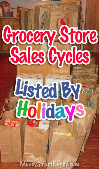 Grocery Store Sales Cycles/ Stocking up on Groceries/ Grocery Stockpile List