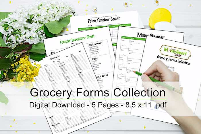 Money Smart Grocery Forms Collection
