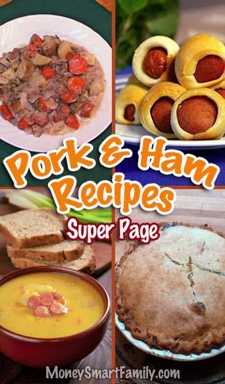Pork & Ham recipes super page.