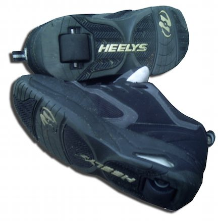Black Heelys skate shoes for a gift.