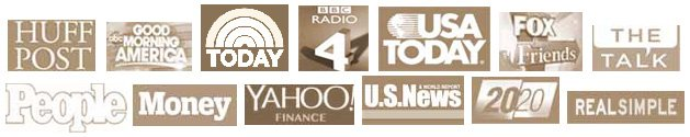 Media Logos for Steve & Annette Economides appearances.