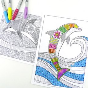 Shabby Creek Coloring page sample for adults.