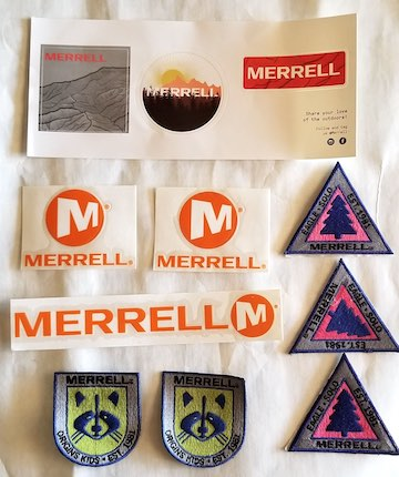 Merrell Free Stickers and Patches Collection.