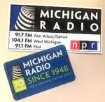 Michigan Radio NPR free sticker and static cling decal.