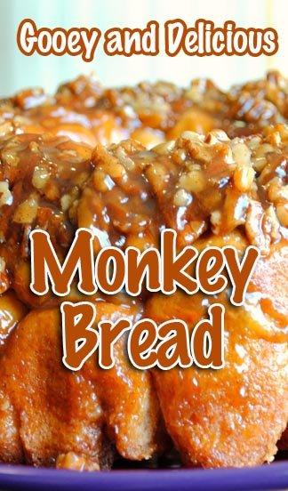 Gooey and Delicious Monkey Bread Recipe #MonkeyBread #CaramelBread #NutBread #CaramelNNutBread