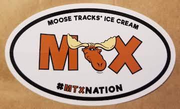 A free sticker we recieved from Moosetracks Ice Cream.