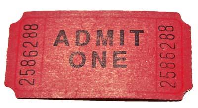 red movie ticket - admit one #RetirementGifts