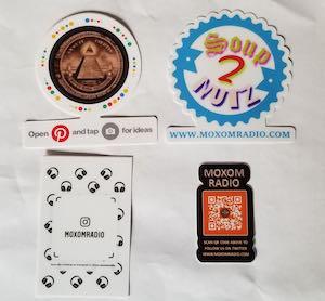 Moxom Radio Free Stickers
