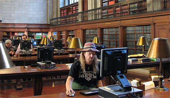 New York City library computers