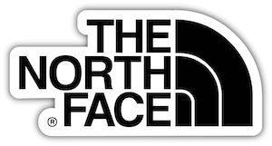 North Face outdoor clothing free sticker