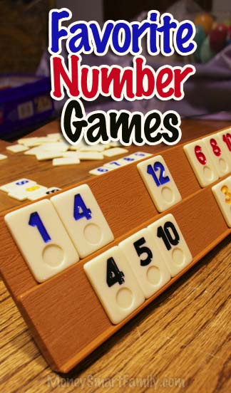 Favorite Number Games for family game nights.