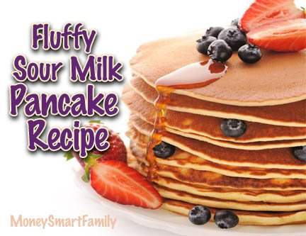How to make fluffy, sour milk pancakes.