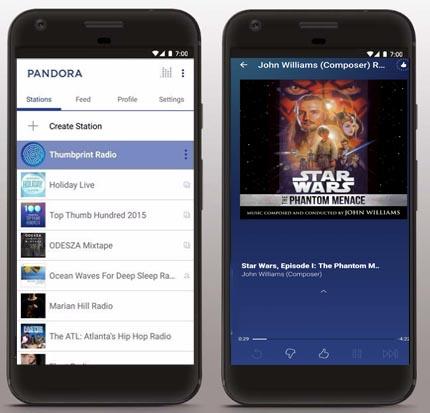 Pandora Music App Screen Shots