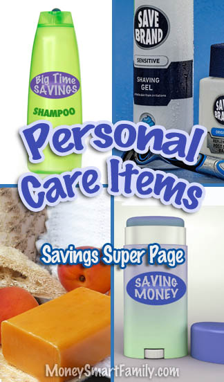 Personal Care items super page of savings.