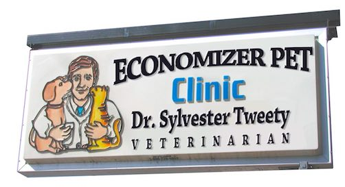 Economiser Pet Clinic Sign.