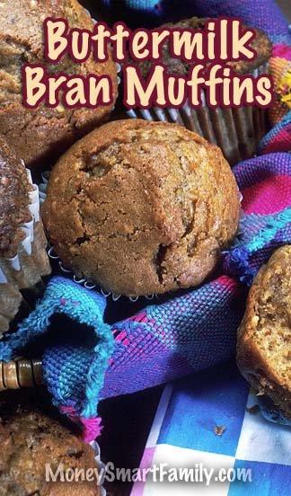 Scrumptious Buttermilk Bran Muffin Recipe - Easy to make and delicious. #BranMuffins #ButtermilkBranMuffins #EasyBranMuffins