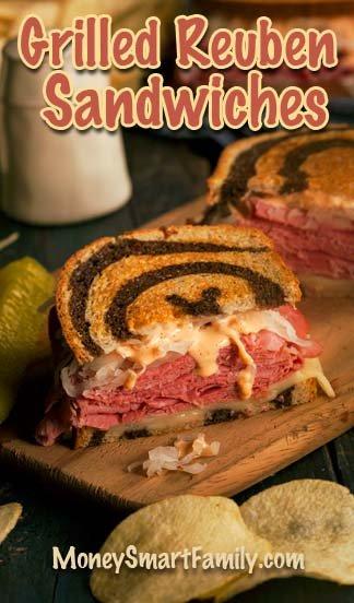A Wonderful, Homemade, Grilled Reuben Sandwich Recipe! #GrilledReubenSandwich #ReubenSandwich