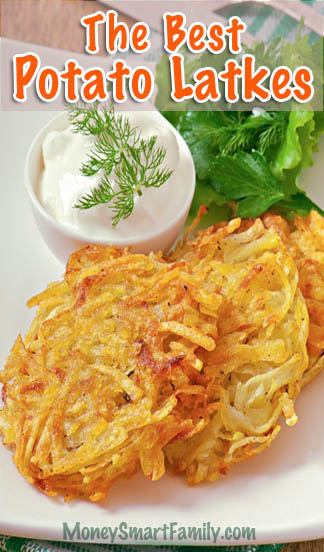 Simple Potato Latke Recipe, not just for the Holidays! #PotatoLatke #Latke #PotatoPancake #HanukkahRecipe #LatkesJewishRecipe