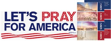 CBN - Free resources to Pray for America bumper sticker and cards