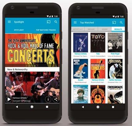 Quello Concert app screenshots
