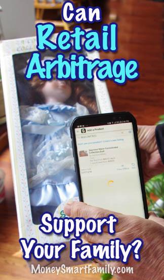 Retail Arbitrage scanner checking porcelian doll pricing.