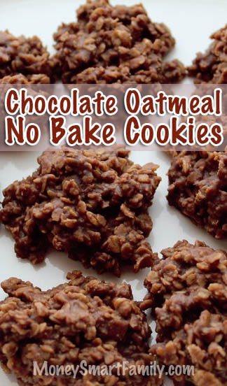 No bake Chocolate Oatmeal Cookies that everyone will love! #NoBakeCookies #ChocolateOatmealCookies #NoBakeChocolateOatmealCookies