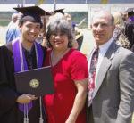 Joe graduating from GCU with Steve & Annette