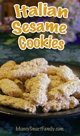 Italian Sesame Cookies-low sugar, biscotti like, with hint of orange. #ItalianSesameCookies #SesameSeedCookies #SesameSeedCookieDessert