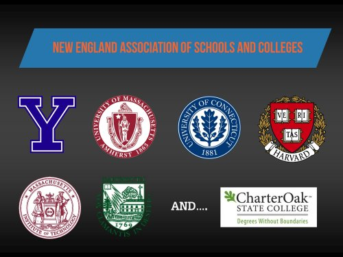 Schools that accept college credit by exam.