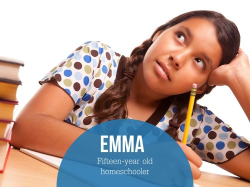 Emma's college study at home story.