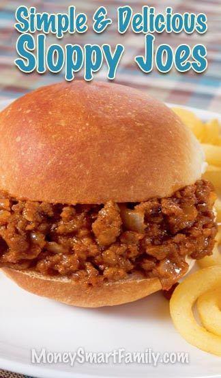 A Simple & Delicious Sloppy Joe Recipe that takes less than an hour to make! #SloppyJoes #SloppyJoeSandwich #SloppyJoesStoveTop
