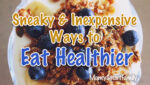 Save money - Healthy living healthy eating