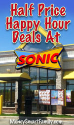Sonic Happy Hour & Sonic Drive In = Happy Hour Deals Galore!